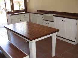 kitchen island with bench seating and table decoraci on interior