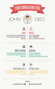 Resume Infographic Template Your Curriculum Vitae Free Resume Template Infographic Template
