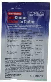 Wash Away Hair Color L U0027oreal Effasol Hair Color Remover Wash Away Permanent Hair 7 8 Oz