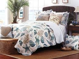 Seashell Queen Comforter Set Beach Themed Duvet Cover Sets Quilt Set King Coastal Tropical