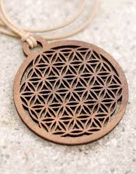 wood pendant necklace images Wooden necklace kaja flower of life black walnut huamet jpg