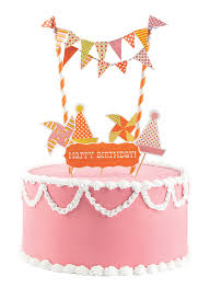 amazon com party partners mini cake decor kit bicycle birthday