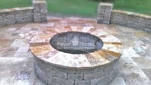 Firepit Pavers Pit Ta Brick Paver Backyard Patio Remodel By Paver House