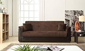 amazon sofa bed with storage amazon com nhi express melanie futon sofa bed with storage