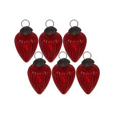 giftbay 198 s 6 glass christmas tree ornament set of 6 pcs an antiqu