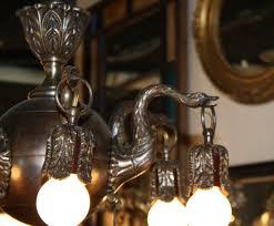 Antique Chandeliers For Sale Antique Bronze Swan Chandelier For Sale Antiques Com Classifieds