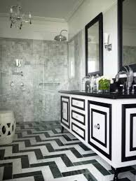 art deco flooring art deco bathroom with black and white vanity doors and floors the