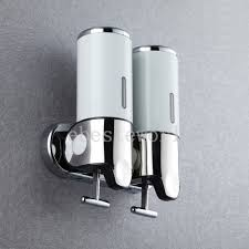 commercial soap dispenser wall mounted 2x500ml stainless steel touch soap box wall mounted liquid shampoo