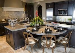 custom kitchen islands with seating imposing kitchen island with built in seating 35 large kitchen