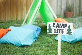 backyard camping birthday party photo gallery backyard