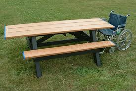 Picnic Table Plans Free Standard Ada Compliant Double Access Picnic Table