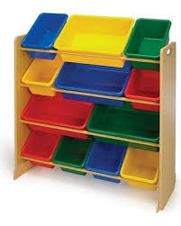amazing deal on toy storage bins wood shelf playroom organizer