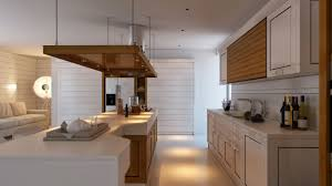 small u shape kitchen decoration using solid oak wood kitchen