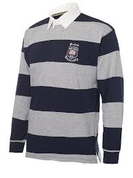 Official Licensed Oxford University Rugby Shirt Navy Grey