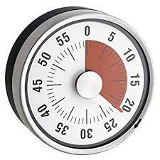 minuteur de cuisine minuteur mécanique de cuisine inox magnétique ø 8 x 3 2 cm