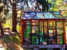 Cabin Designs by Artist Builds Incredible Stained Glass Cabin In The Middle Of The