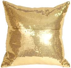 gold sequins accent pillow from pillow decor