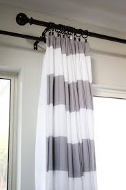 Grey White Striped Curtains Uncategorized Horizontal Striped Curtains Inside Grey