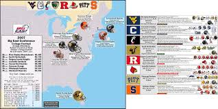 Map Of Virginia Tech by Ncaa Gridiron Football Billsportsmaps Com