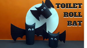 halloween crafts toilet paper roll bat toilet paper roll