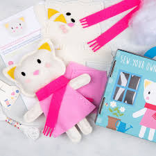 lucky the cat felt kit dotcomgiftshop