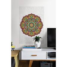 wallpops 24 in x 36 in dry erase world map wall decal wpe99074 paradise mandala coloring wall decal