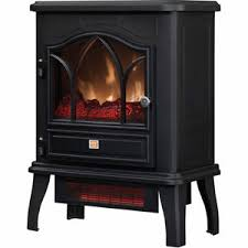 Electric Fireplace Stove Redstone Infrared Quartz Electric Fireplace Stove Black At