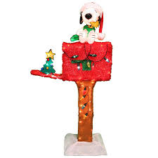 Snoopy Christmas Decorations by Shop Peanuts Pre Lit Snoopy And Woodstock Sculpture With Constant