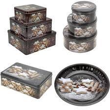 christmas storage tins ebay