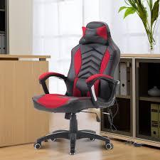 aosom homcom modern ergonomic pu leather heated vibrating