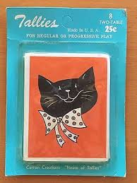 two table progressive tally vintage halloween two new old stock tally tallies die cut card black
