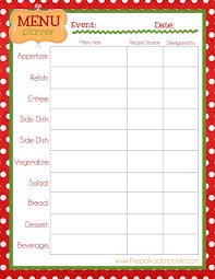 thanksgiving recipe card template the polka dot posie christmas organizing printables to get you in