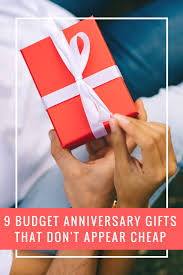 9 budget anniversary gifts that don t appear cheap