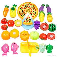 jeux de cuisine pour bébé itechor 24pcs jeu enfants en plastique de coupe pour bébé enfants