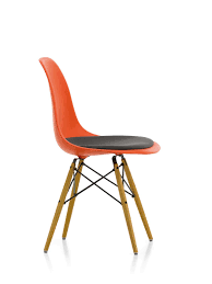 eames plastic side chair dsw chair with seat cushion vitra