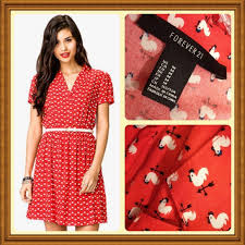 forever 21 forever 21 rooster print dress from jen u0027s closet on