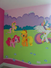 My Little Pony Mural For Girls Bedroom Loads Of Characters - Girls bedroom wall murals