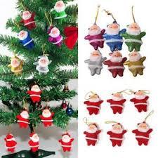 6pcs santa claus ornaments festival tree