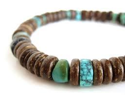 tribal men u0027s bracelet wood bracelet for men tribal turquoise