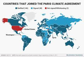 United States Climate Map by Trump Withdrawing From Paris Climate Agreement Business Insider