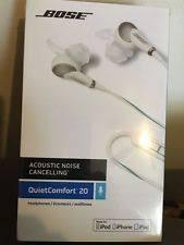 Bose Quiet Comfort 20 Headphones Bose Qc20 In Ear Only Headphones Black Ebay