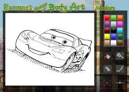 coloring amusing cars coloring games disney