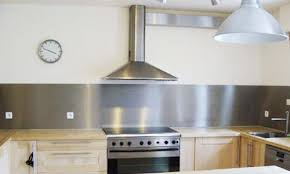 cuisine avec credence inox credence cuisine inox plakinox photos cr dences r alisation de 5 en