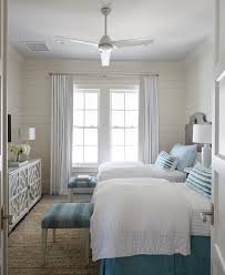 beach style bedrooms gray and blue beach style bedroom with gray quatrefoil mirrored
