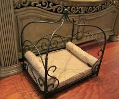 Pet Canopy Bed Wrought Iron Pet Canopy Bed Vintage Small Cat