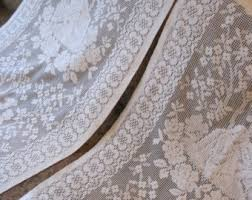 Cream Lace Net Curtains French Cafe Curtains Etsy