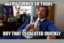 Happy Birthday 30 Meme - turning 30 jokes kappit