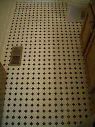 octagonal mosaic tile floors with black dot in northern colorado