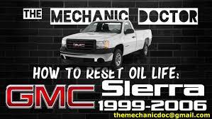 how to reset oil light gmc sierra 1999 2000 2001 2002 2003