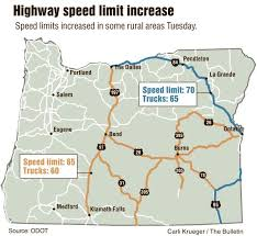 map of highway 395 oregon it s official speed limits up across central and eastern oregon